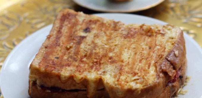 Nutella Stuffed French Toast Sandwich from Supper in the Suburbs