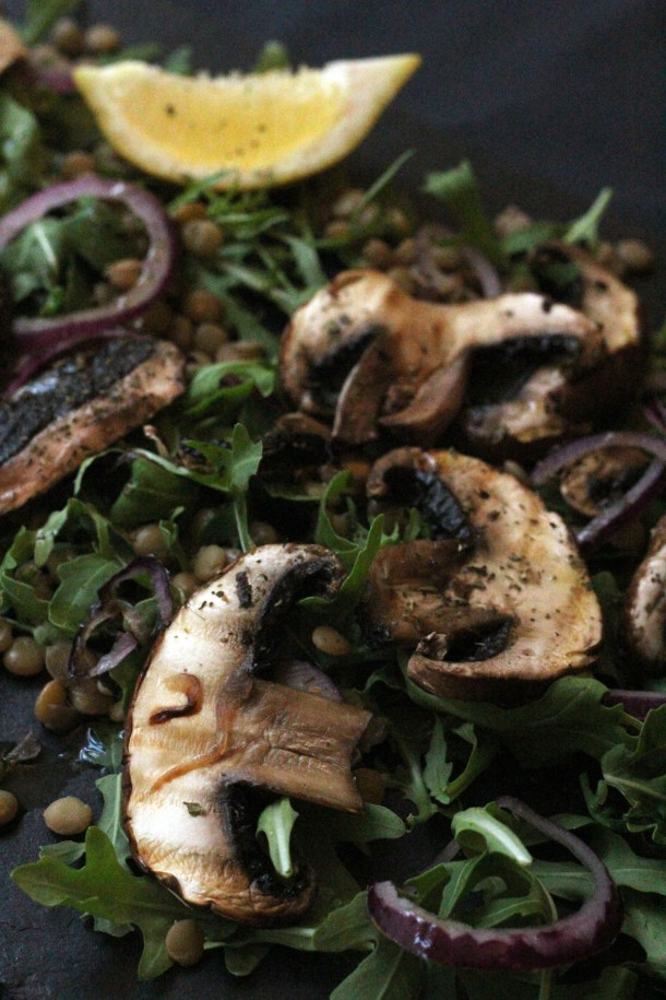 Mushroom and Lentil Salad from Supper in the Suburbs