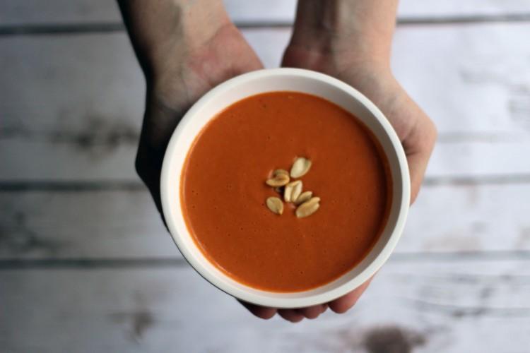 A bowl of warm peanut soup