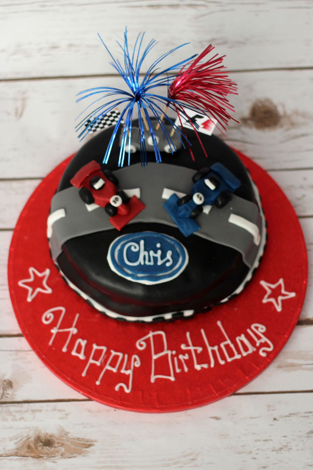 Formula 1 Cake Design – an entry into Cake Club at Kerry Cooks Blog, July 2015