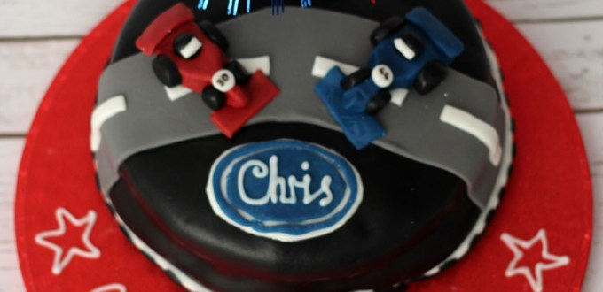 Formula 1 Cake Design from Supper in the Suburbs