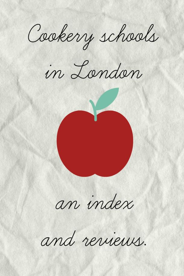 London Cookery Schools Index