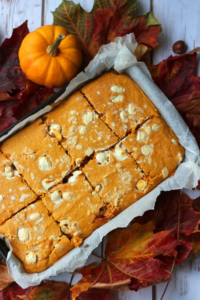 Pumpkin Spice Blondies from Supper in the Suburbs