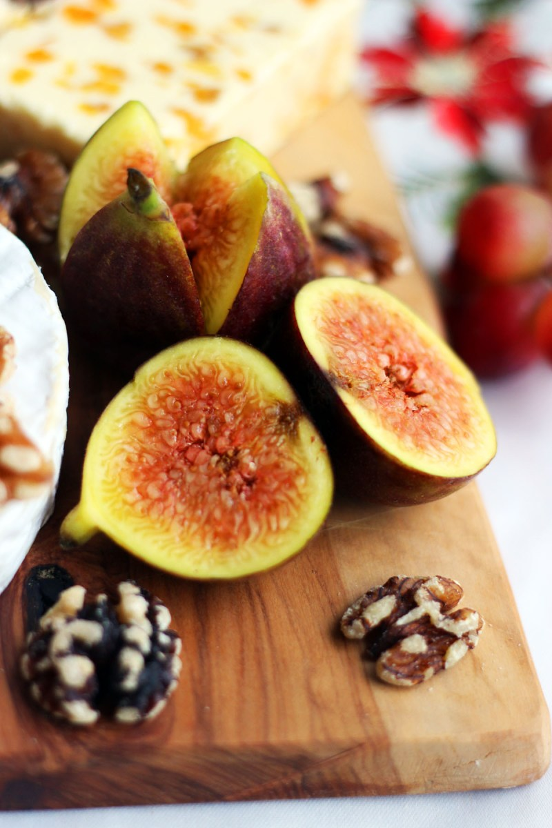 As well as making sure you have a soft, semi-soft, semi-hard and hard cheese don't forget the fruit and nuts