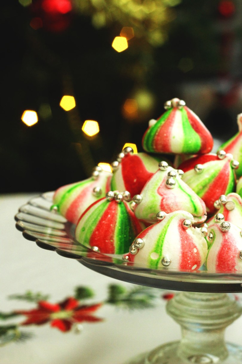 Christmas Elf Meringue Kisses are a fun sweet treat for the festive season find the recipe on Supper in the Suburbs