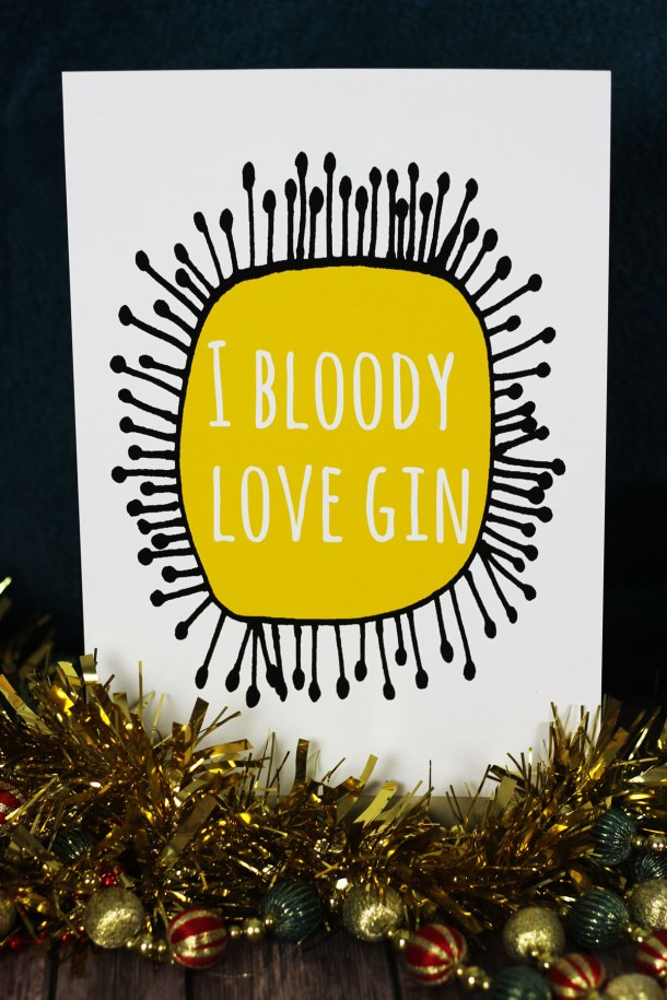 Kelly Connor Designs really knows how to express your love of gin find more gin themed Christmas gift ideas at Supper in the Suburbs