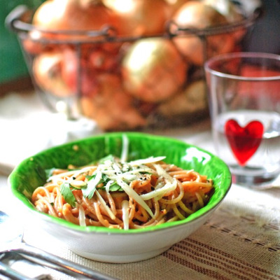 Spaghetti alla vodka from The Healthy Epicurean