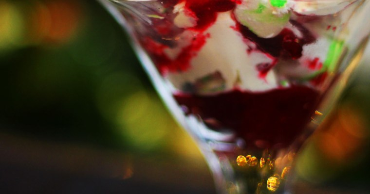 Christmas Eton Mess with Cranberries and Star Anise