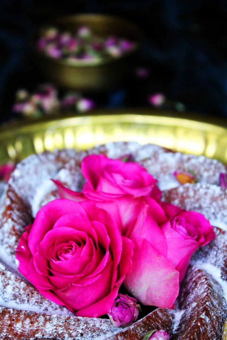 A Persian Loved Bundt wouldn't be complete without fresh roses find the recipe at Supper in the Suburbs