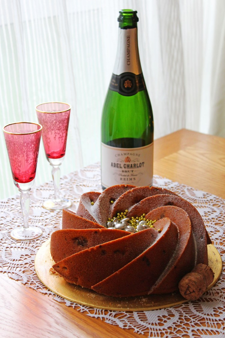 Supper in the Suburbs shares a recipe for a celebratory Champagne and Raspberry Bundt Cake fit for any special occasion.