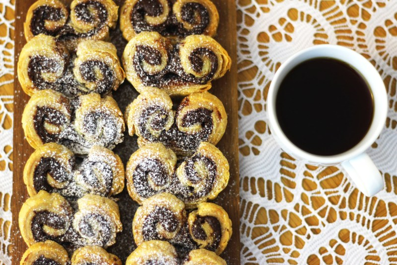 Theres nothing better than waking up to the smell of fresh coffee and Nutella Palmiers find the recipe at Supper in the Suburbs