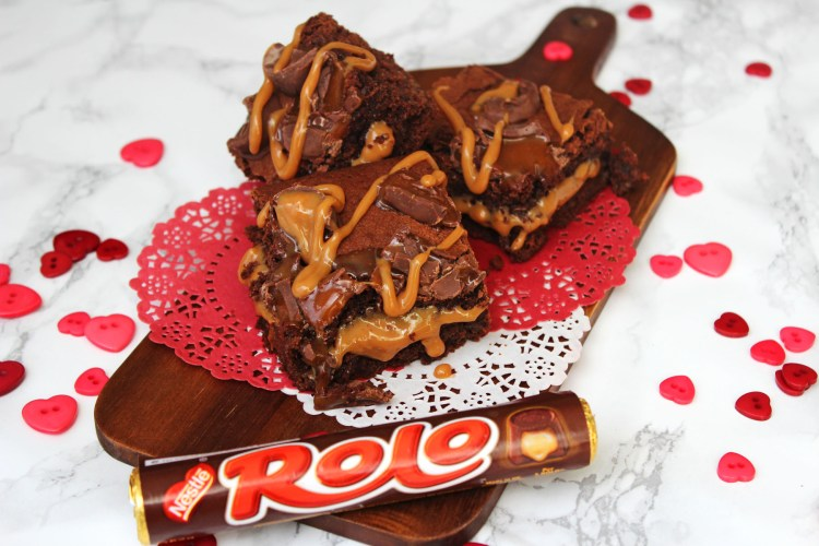 Rolo stuffed brownies is there any better way to declare your love find the recipe at Supper in the Suburbs