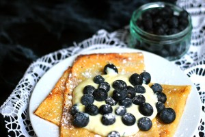 These Scandinavian Oven Baked Pancakes are light and fluffy best served with yogurt and fresh blueberries