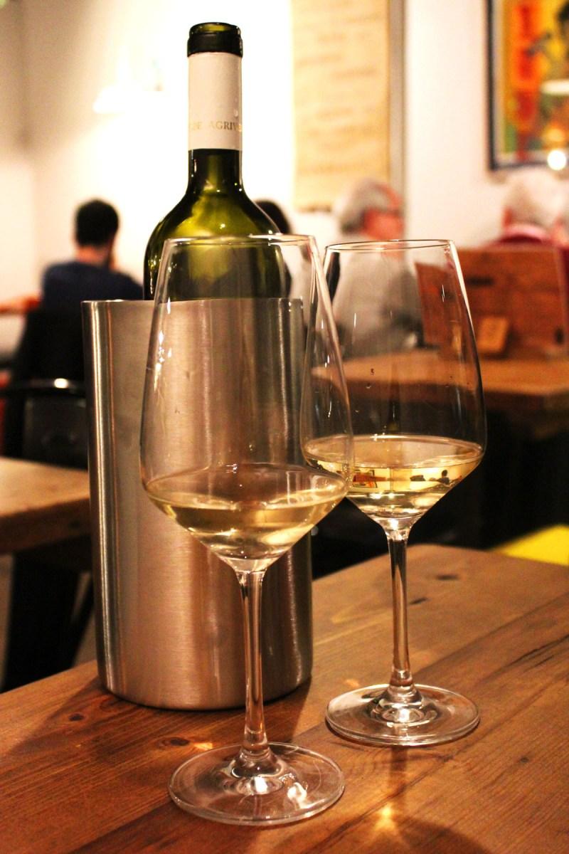 White Wine at Pasta Remoli