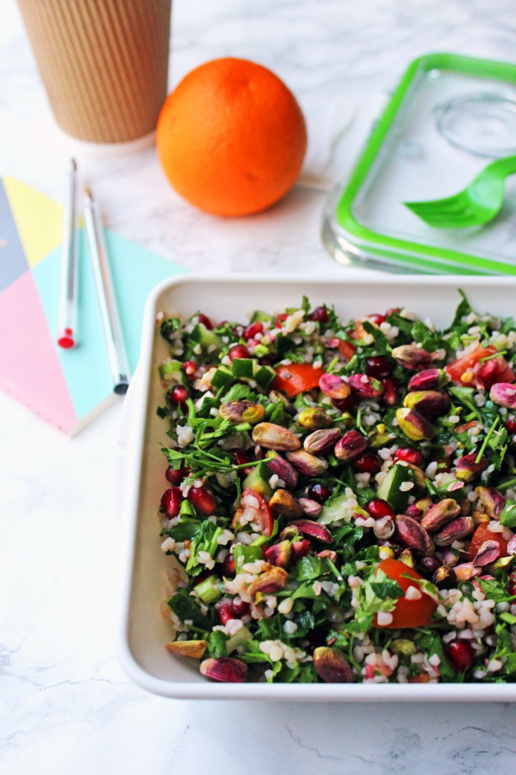 Pistachio and Pomegranate Tabbouleh is a fun twist on a classic Middle Eastern recipe Find out how to make it at Supper in the Suburbs