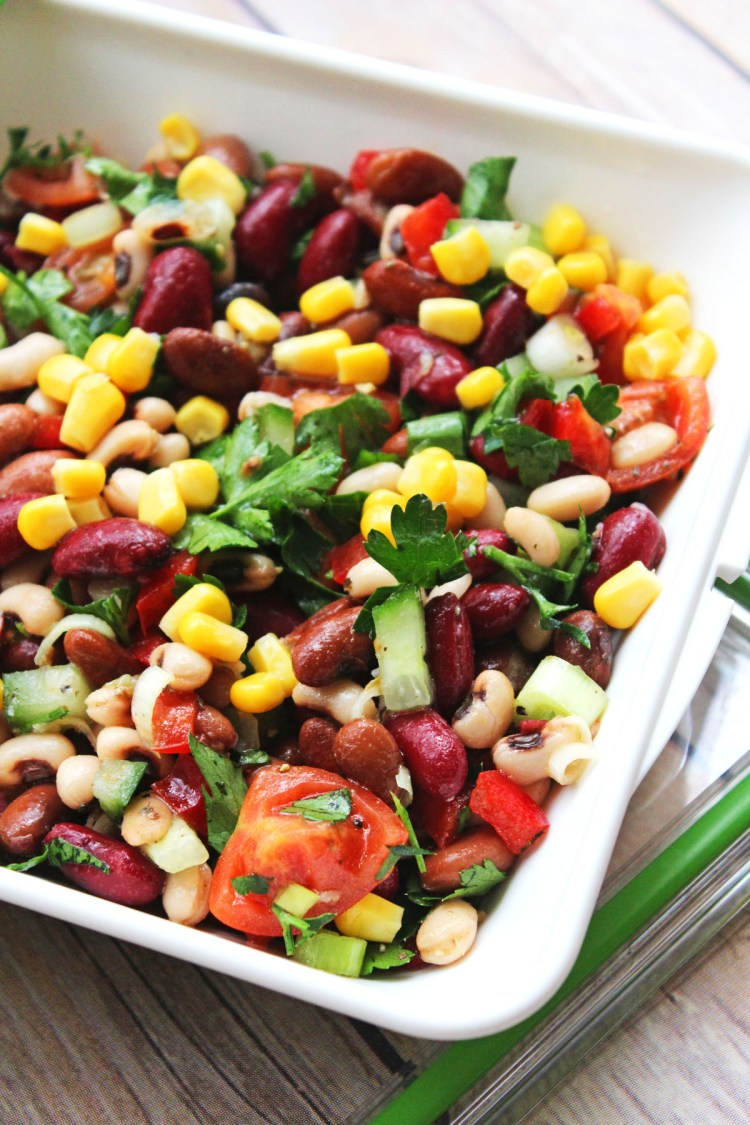 You'll find all the colours of the rainbow in this vibrant Three Bean Salad from Supper in the Suburbs a delicious healthy lunch recipe