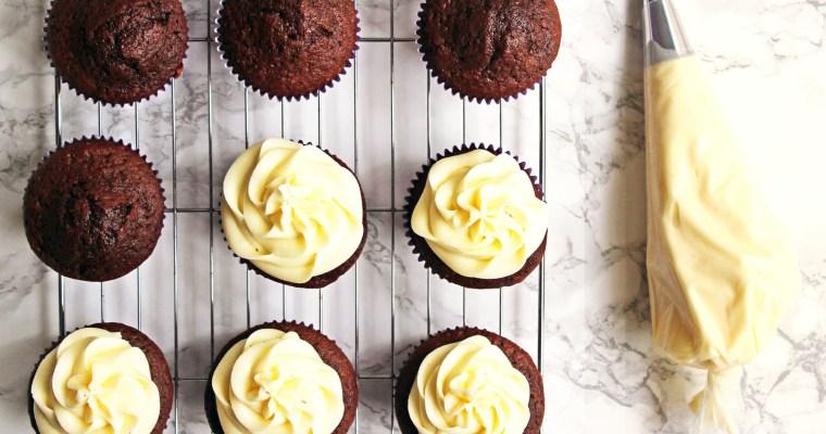 Dark Chocolate and Passion Fruit Cupcakes