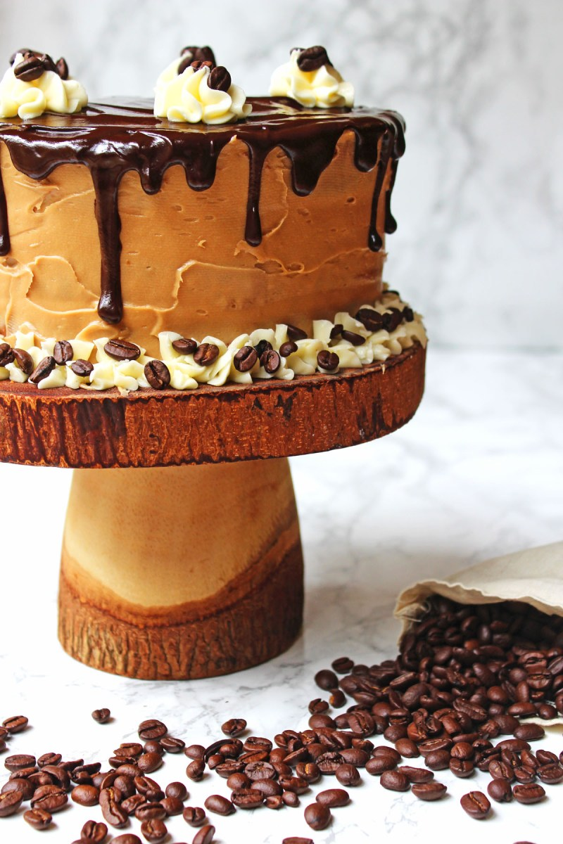 Check out the chocolate drips on this stunning Mocha Cake! Find out how to make it at home.