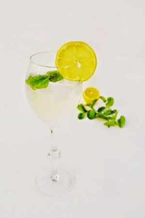 prosecco and elderflower cocktail made with elderflower cordial