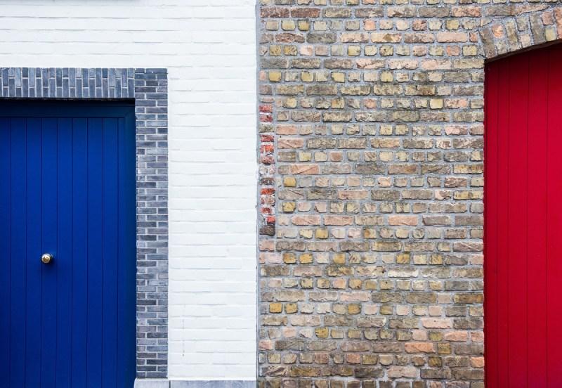 Blue front door small