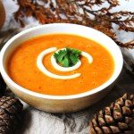 This warming spiced pumpkin soup tastes like autumn. It's a fantastic recipe made with seasonal vegetables and the classic pumpkin spice mix. Find out how to make this recipe for your lunch or dinner at Supper in the Suburbs. Why not serve it as a starter this Thanksgiving?