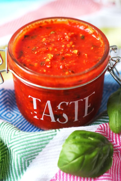 This Red Pepper Pesto with fresh basil is the perfect addition to your summer meals. Stir it through pasta, spread it on bread or use it as a dip! Get the recipe at Supper in the Suburbs!