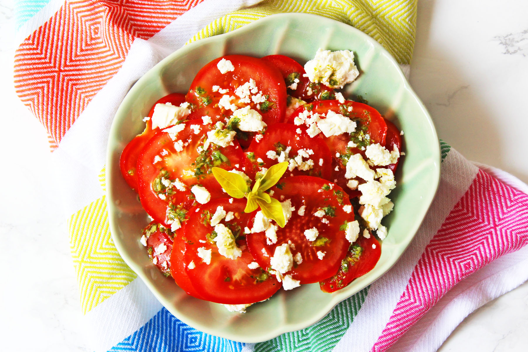 Tomato, Feta and Oregano Salad