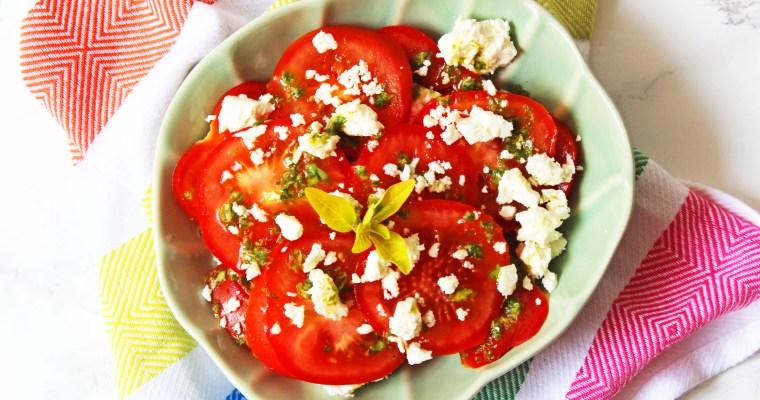 Tomato, Feta and Oregano Salad