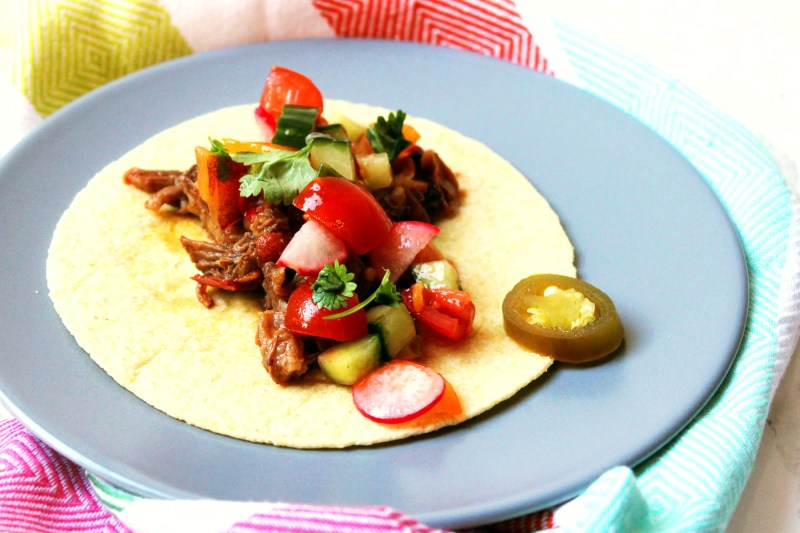This Radish and Lime Salsa is fun, fiery and full of flavour. It's delicious on tacos, fajittas or nachos! Get this tasty Mexican recipe at Supper in the Suburbs!