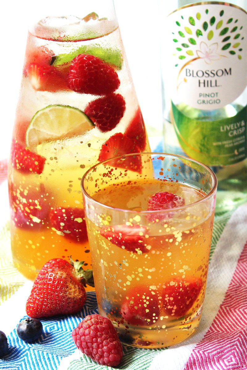 White Wine Sangria is a lighter twist on a Spanish classic. Find out how to make this summer cocktail on Supper in the Suburbs