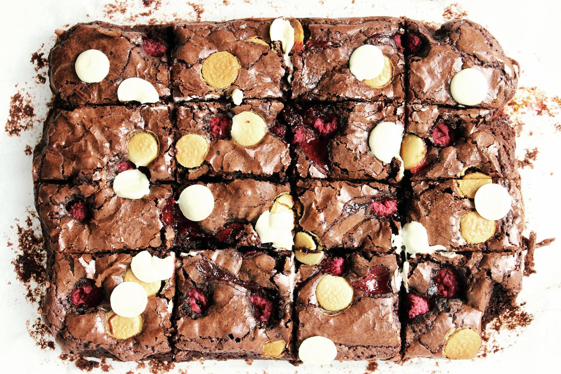 Raspberry and White Chocolate Brownies