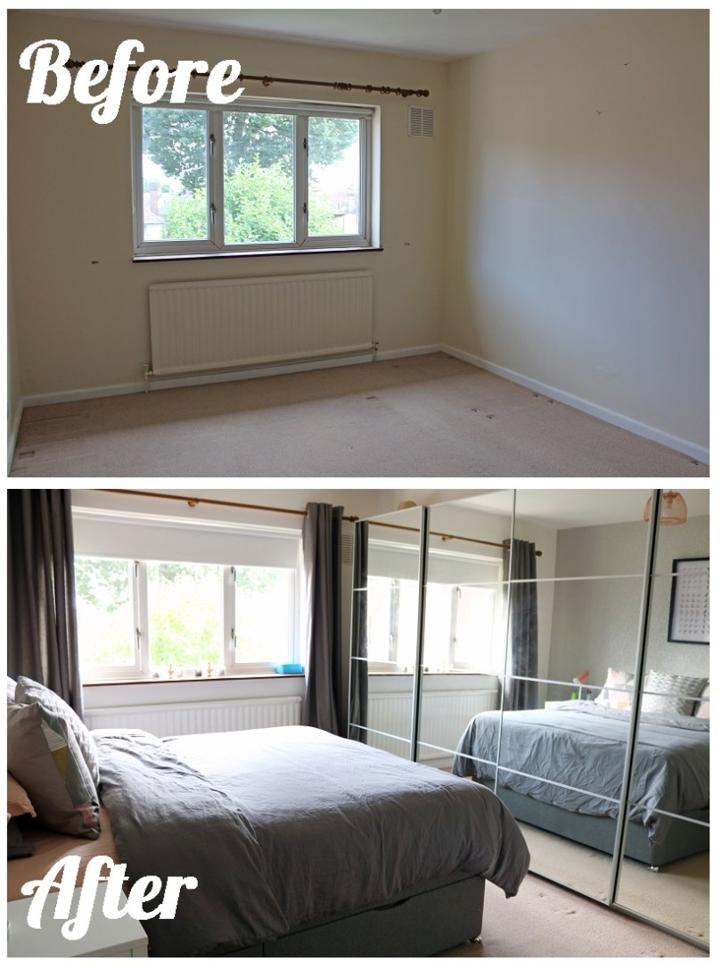 Before and After Main Bedroom