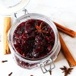 This Boozy Bourbon Cranberry Sauce is perfect for Christmas or Thanksgiving!