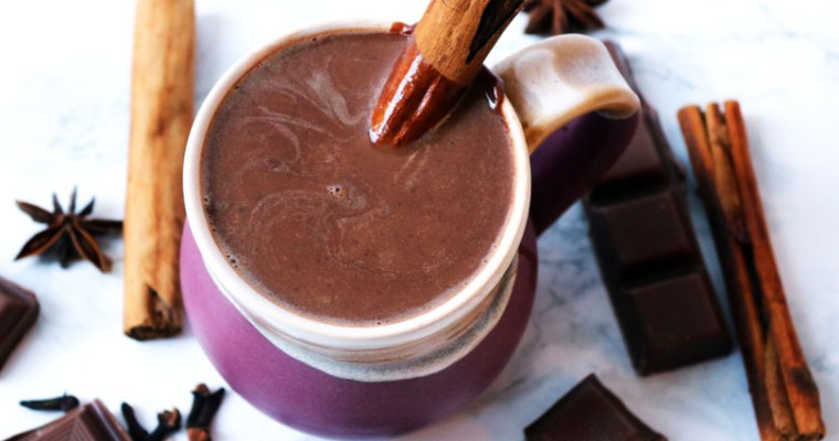 Cinnamon and Amaretto Hot Chocolate