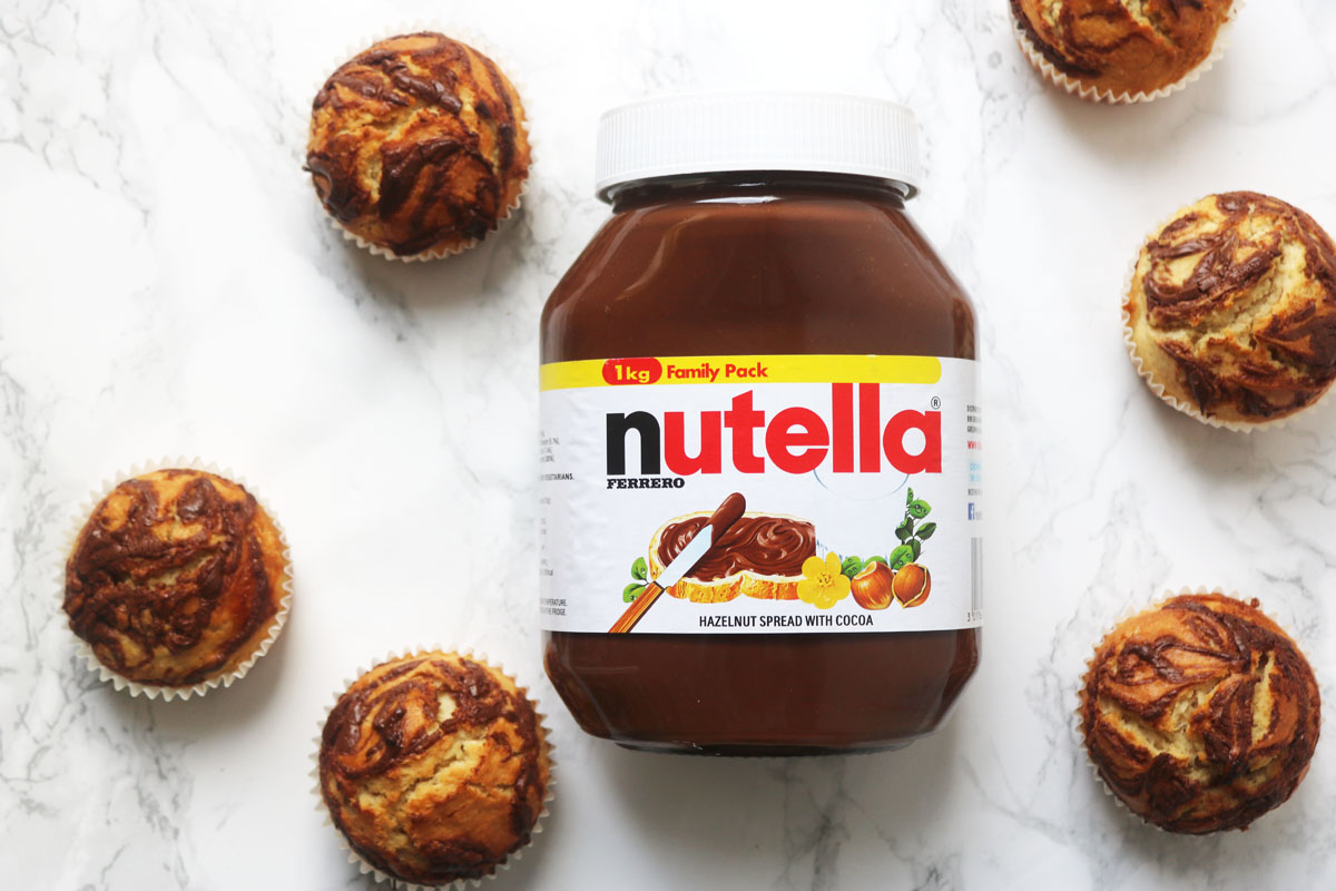 Nutella Stuffed Muffins