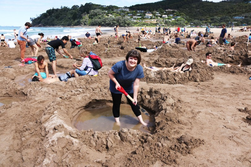 Hot Water Beach is a must visit while you're in the Coromandel as part of your driving tour of New Zealand's north island