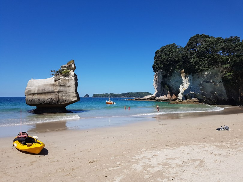 If you're staying in Hahei a great way to see Cathedral Cove i s to kayak along the coast