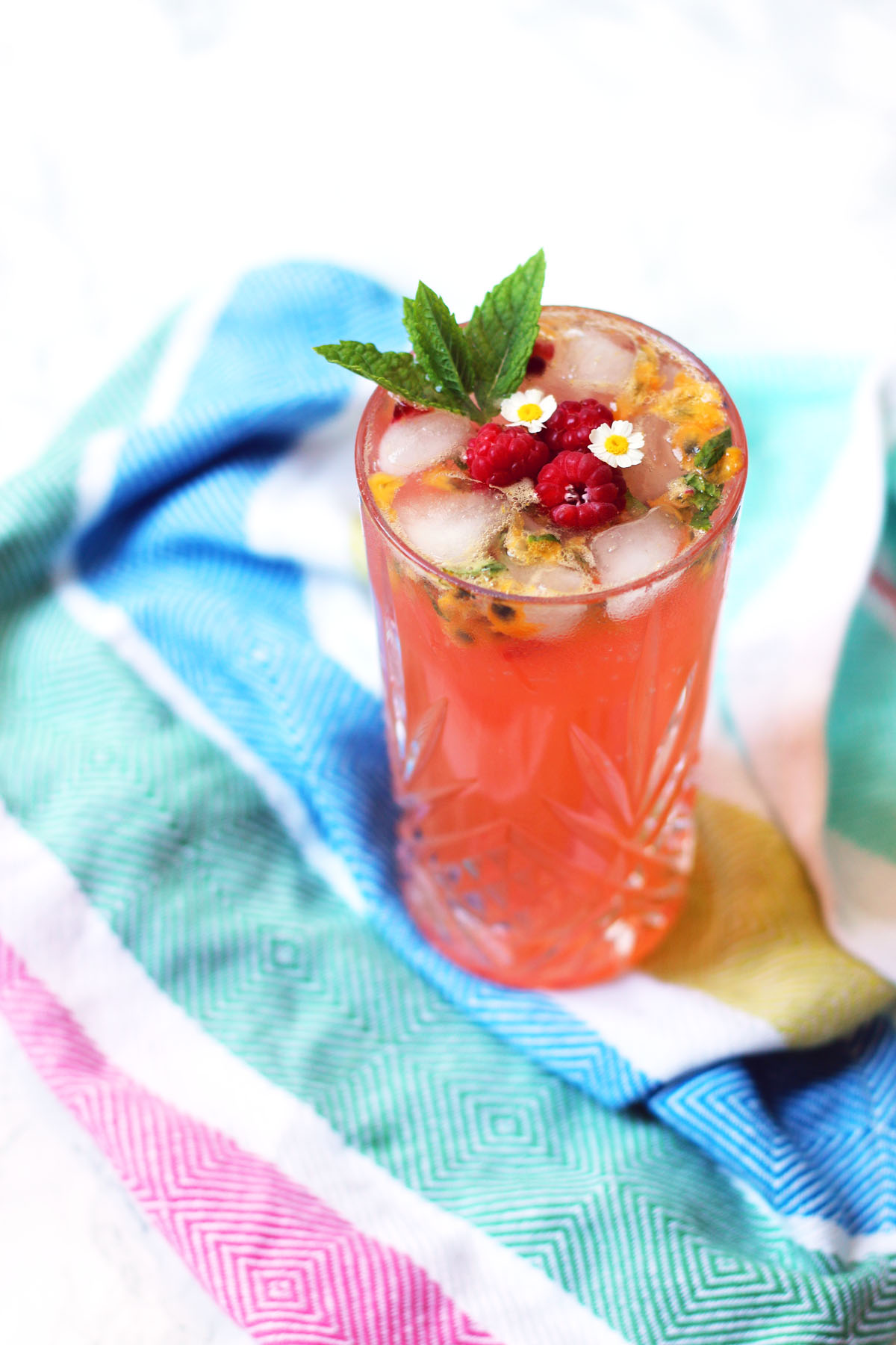 Raspberry and Passion Fruit Virgin Mojito
