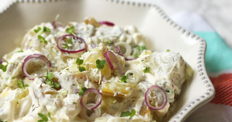 Lighter Potato Salad with Crème Fraîche and Dill