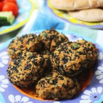 Sesame Crusted Baked Falafel