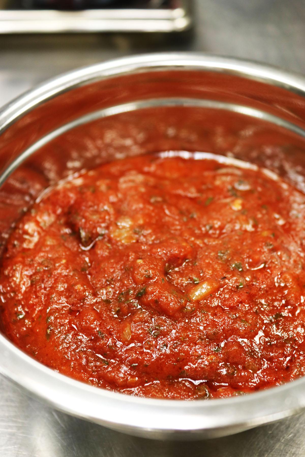 Leftover tomato sauce