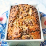 Peanut butter and chocolate chip banana bread