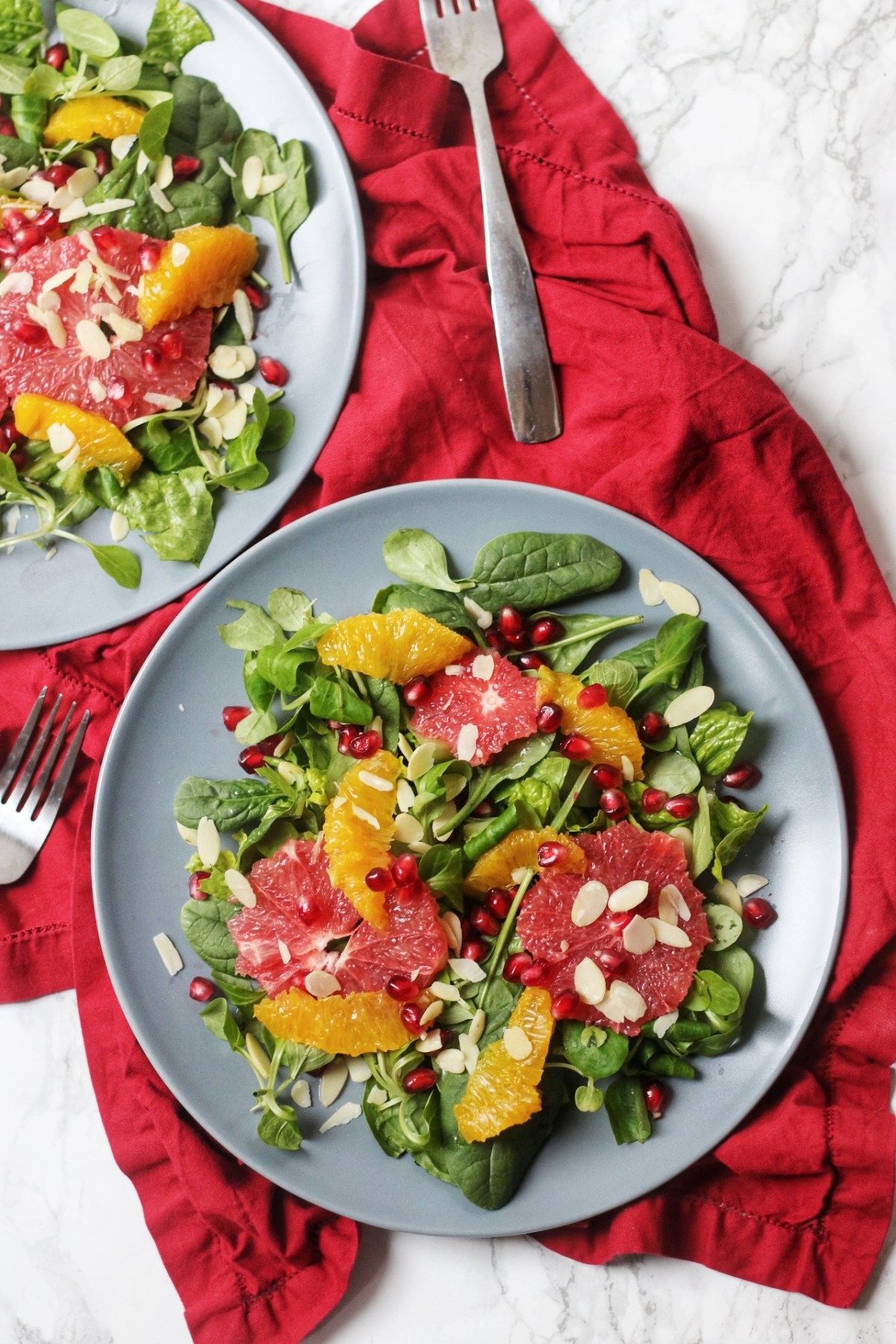 Winter Citrus Salad with orange, grapefruit and pomegranate
