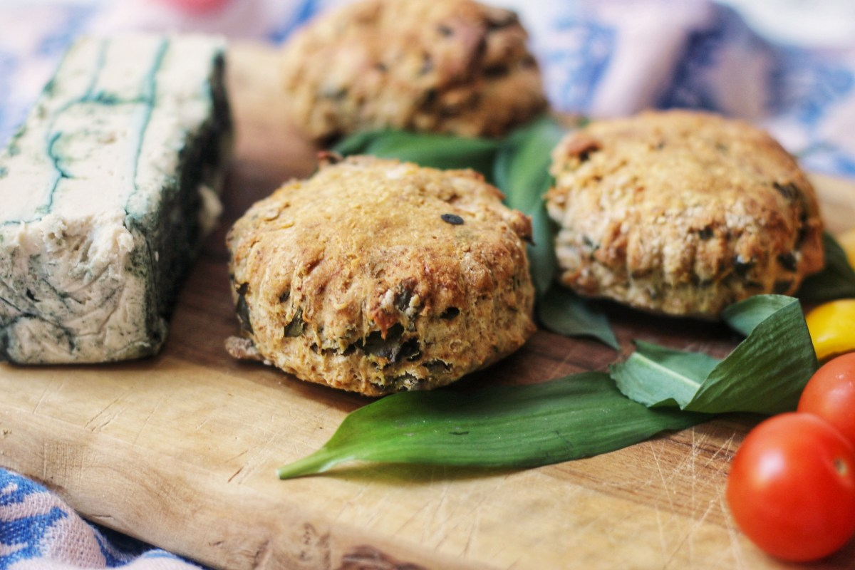Vegan Wild Garlic Sourdough Scones