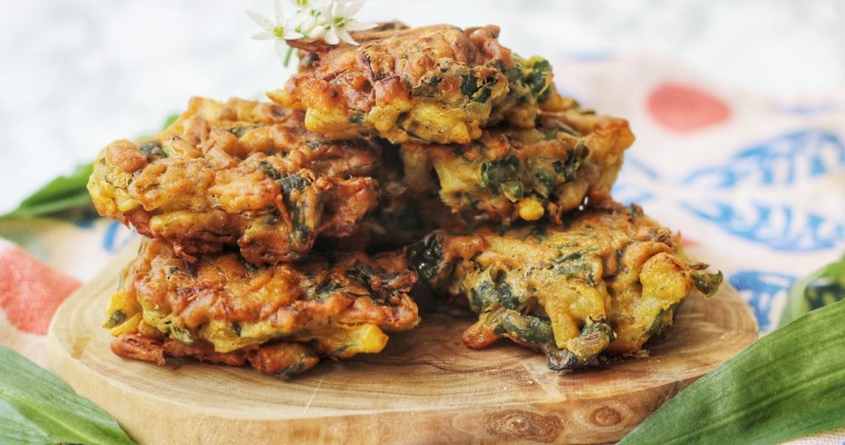Wild Garlic Onion Bhajis