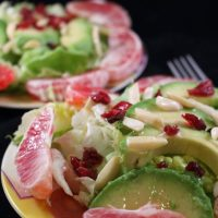 Blood Orange Avocado Salad with Macadamia Nut Oil Dressing