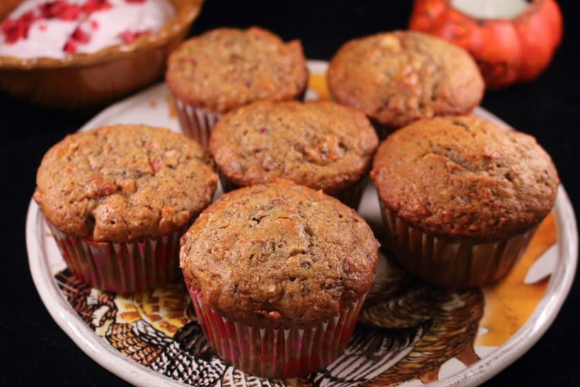 Cran-Apple Carrot Muffins