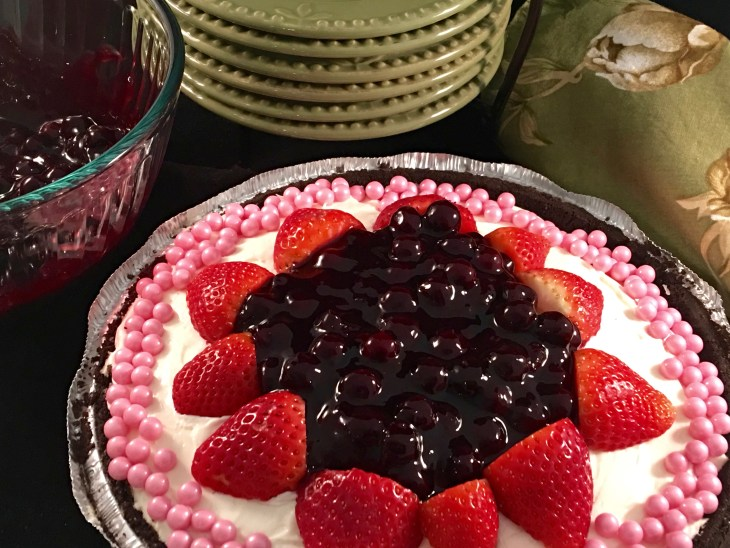 Beautiful presentation of a No Bake Cheesecake!