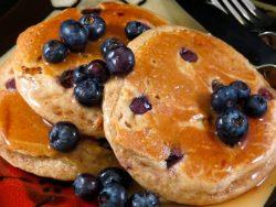 Blueberry Whole Wheat Pancakes