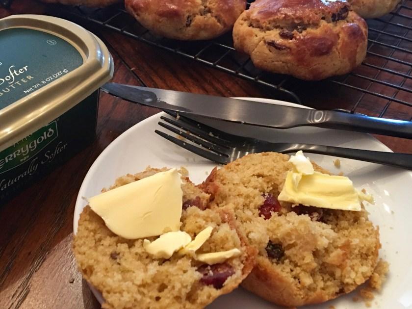 Irish Buttermilk Scones with Raisins